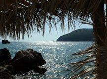 Lumière du soleil se reflétant de la mer de Marmara, princes Islands Images libres de droits