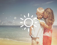 Lumière du soleil Sunny Summer Spring Vacation Concept de soleil Images stock