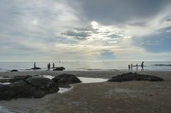 Lumière du soleil sur la plage Photographie stock libre de droits