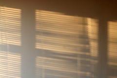 Lumière du soleil sur le mur Photo libre de droits