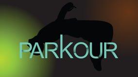 Lumière du vecteur art Parkour est un homme Flip Back illustration libre de droits
