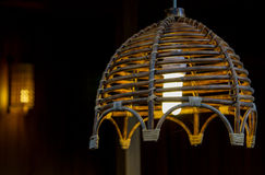 Lumière en bambou rougeoyante Image stock