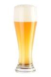 lumière en verre de bière Images libres de droits