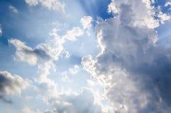 Lumière et ciel Photos libres de droits