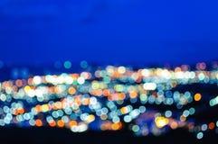 Lumière et ciel nocturne de tache floue Photos libres de droits