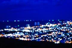 Lumière et ciel nocturne de tache floue Photos stock