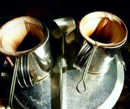 Lumière et ombres des sacs de café antiques Image libre de droits