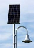 Lumière extérieure actionnée solaire Image libre de droits
