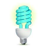 lumière fluorescente compacte d'ampoule Photo stock