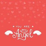 Lumière heureuse de coeurs de carte de Saint-Valentin illustration libre de droits