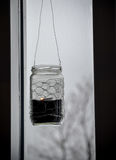 Lumière islandaise de bougie, Islande Photographie stock