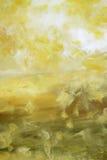 Lumière jaune dans le désert Image libre de droits