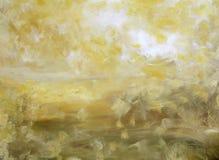 Lumière jaune dans le désert - horizon Images libres de droits