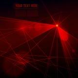 Lumière laser rouge de vecteur sur le fond foncé Photo stock