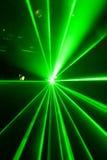 Lumière laser verte Photographie stock libre de droits