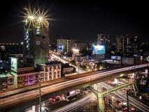 Lumière lente dans la zone urbaine Photographie stock