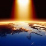 Lumière lumineuse d'en haut images libres de droits