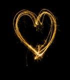 Lumière lumineuse de coeur Photo libre de droits