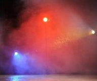 Lumière lumineuse de concert dans le club photographie stock libre de droits