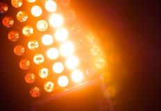Lumière lumineuse des lumières d'étape de matrice avec une lueur images stock