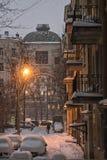 Lumière magique d'hiver image libre de droits