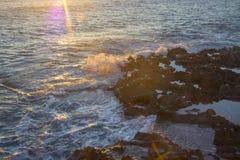 Lumière magique sur la vague Photographie stock libre de droits