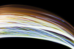Lumière mobile colorée sur le noir Photo stock