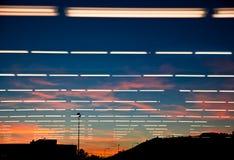 Lumière naturelle, lumière artificielle Photo libre de droits