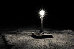 Lumière noire et blanche Photo stock
