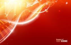 Lumière orange abstraite illustration stock