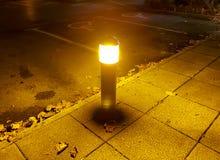 Lumière orange de nuit photographie stock