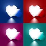 Lumière par le coeur de forme Images libres de droits