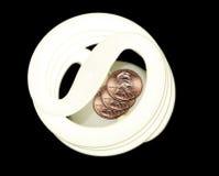 Lumière pour des penny Images stock
