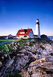 Lumière principale de Portland, Maine Photos stock