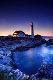 Lumière principale de Portland, Maine Photographie stock