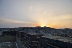 Lumière prolongée du coucher de soleil Image stock