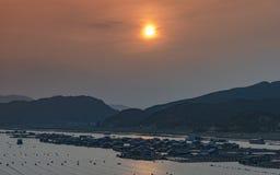 Lumière prolongée du coucher de soleil Photo stock