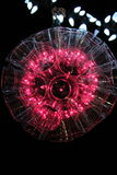 Lumière rose rougeâtre de boule d'étincelle Photos stock