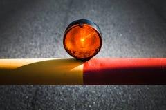 Lumière rouge sur la barrière automatique Photo libre de droits
