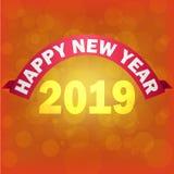 Lumière 2019 rougeoyante de Backgroundthe de bonne année du fond 2019 de nouvelle année illustration libre de droits