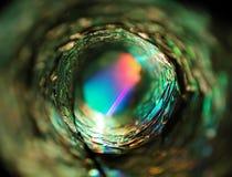 Lumière rougeoyante de cercle métallique image stock