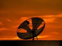 Lumière satellite de bout de coupure de disque Photo libre de droits