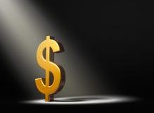 Lumière Shinning sur le dollar Photos stock