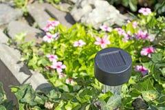 Lumière solaire de jardin Images stock