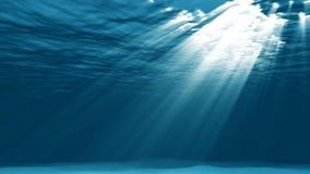 Lumière sous-marine dans la lagune illustration stock