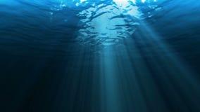 Lumière sous-marine de mer illustration stock