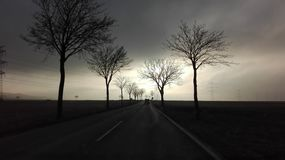 Lumière sur la route Image stock