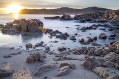 Lumière sur les roches Photo libre de droits