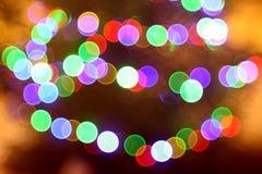 Lumières abstraites, éclair, nuit Photographie stock