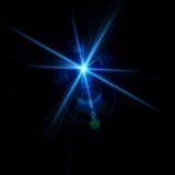 Lumières abstraites au-dessus des milieux noirs Image libre de droits